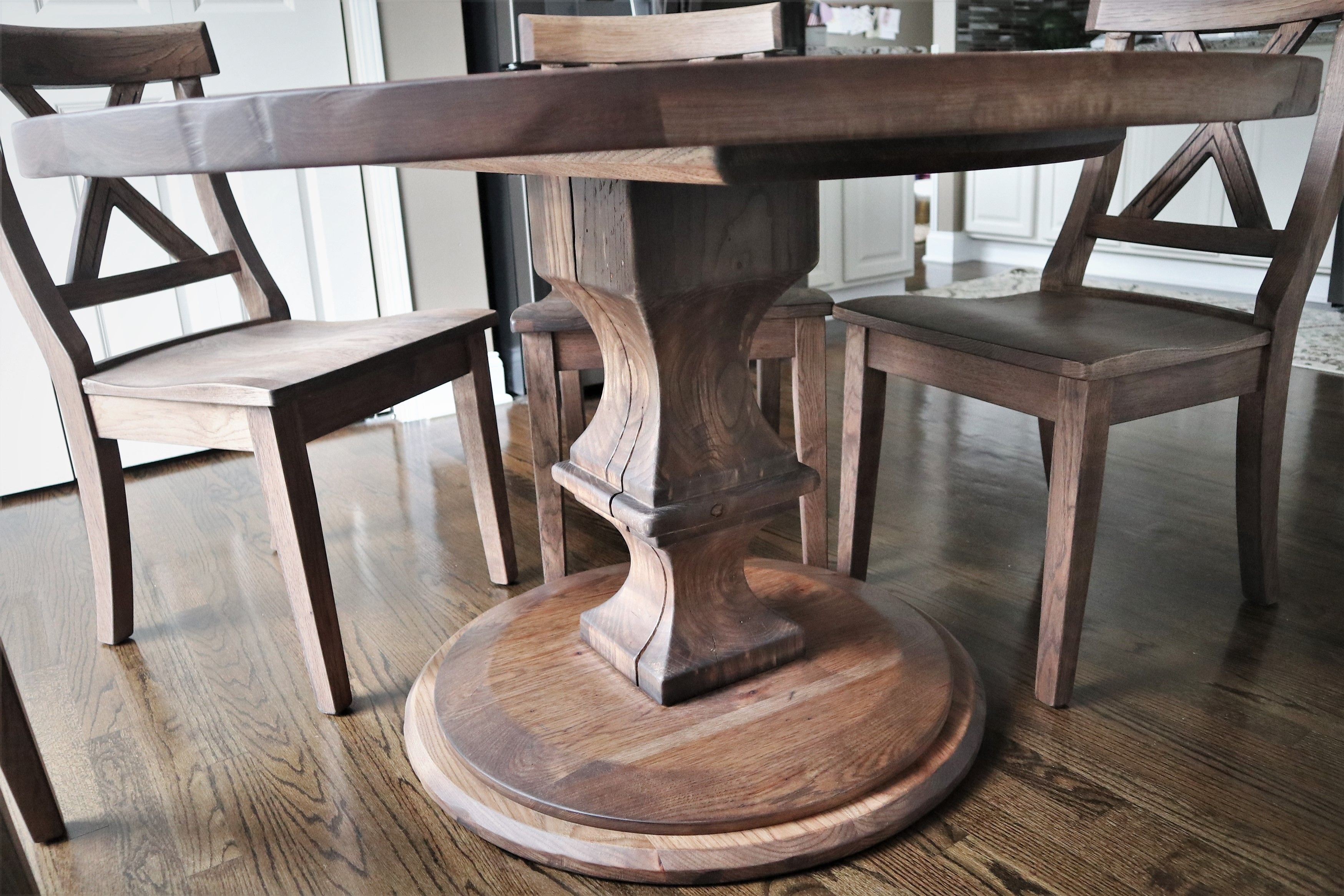 For This 50 Inch Round Table We Added Light Distressing On The