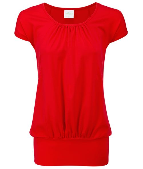 Top Poppy Red By Wellicious Blouse Tunique