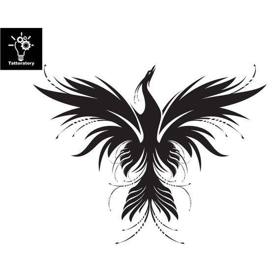 Photo of Phoenix Temporary Tattoo Phoenix Tattoo Phoenix Fake Tattoo Firebird Tattoo Trib …