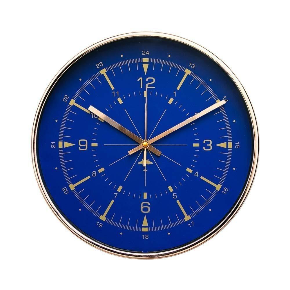 Arospa Modern 12 Silent Sweep Movement Contemporary Wall Clock