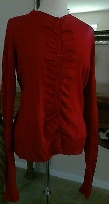 NEW-YORK-COMPANY-Ladies-RED-Cardigan-Sweater-Size-LARGE-S104 ...