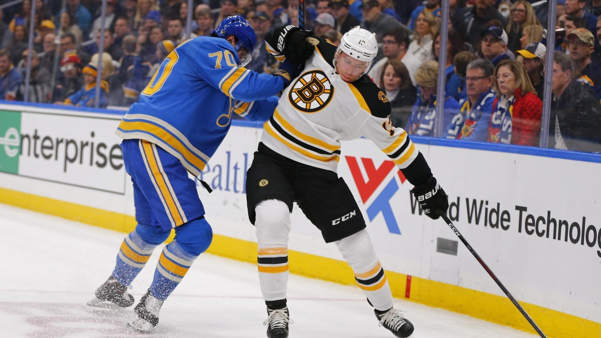 Blues end Bruins' sevengame winning streak in shootout
