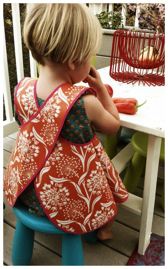 Cross-back apron smock - Too cute! Want to make adult size!
