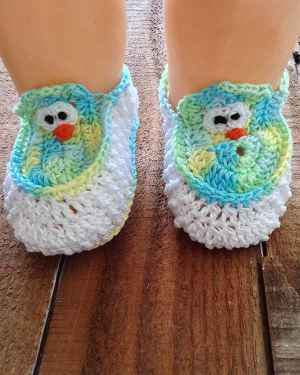 Baby Owl Layette Crochet Pattern | Babyschühchen und Häkeln