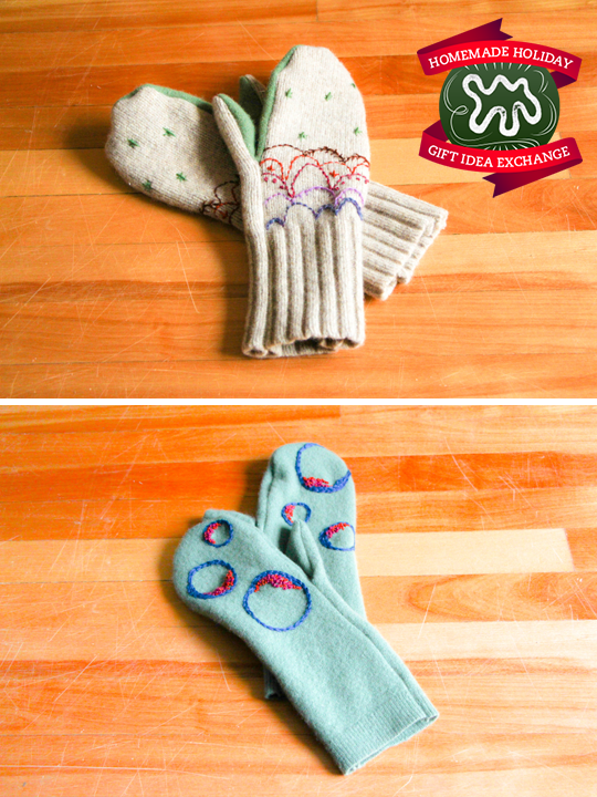 Make this Homemade Holiday Gift: Upcycled Sweater Felted Mittens — HOMEMADE HOLIDAY GIFT IDEA EXCHANGE: PROJECT #14