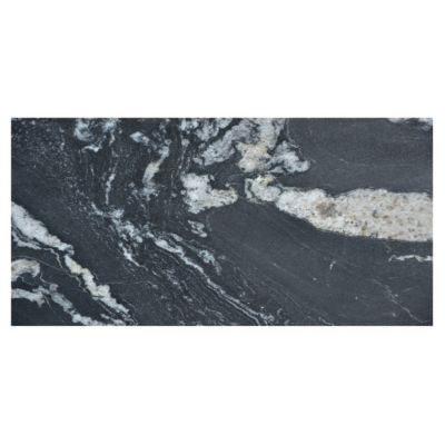 Floor And Decor Granite Tile Nero Athens Polished Granite Tile  12Inx 24In Floor And