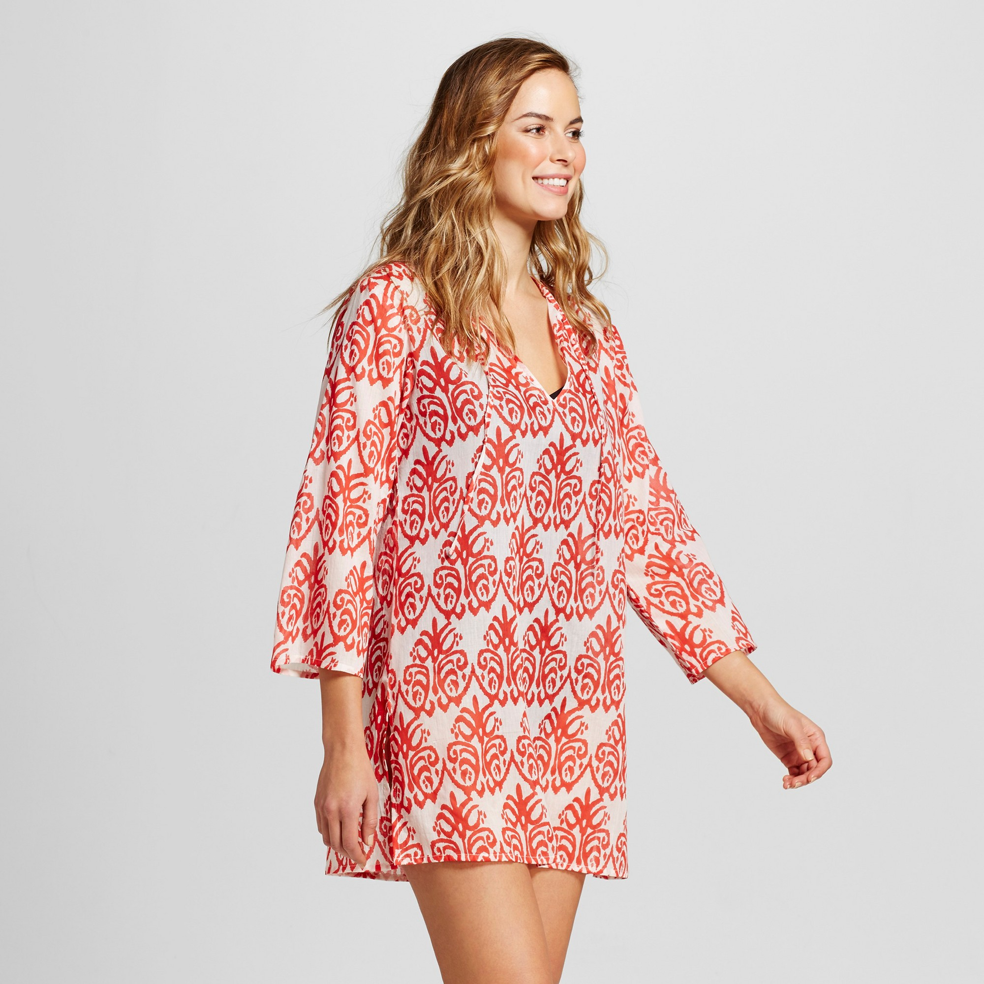 Women S Beach Tunic Hara Red L Flora By Rockflowerpaper Products