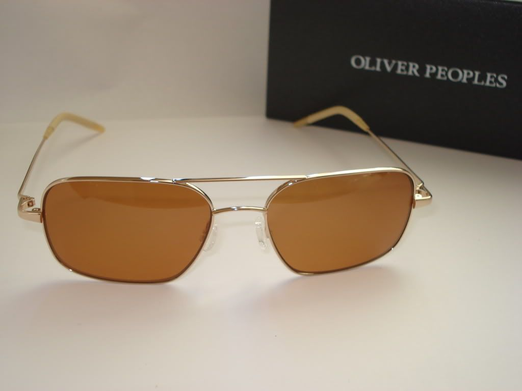 4435924d21e NEW Oliver Peoples Victory 55 Burn Notice Michael Westen Cognac ...