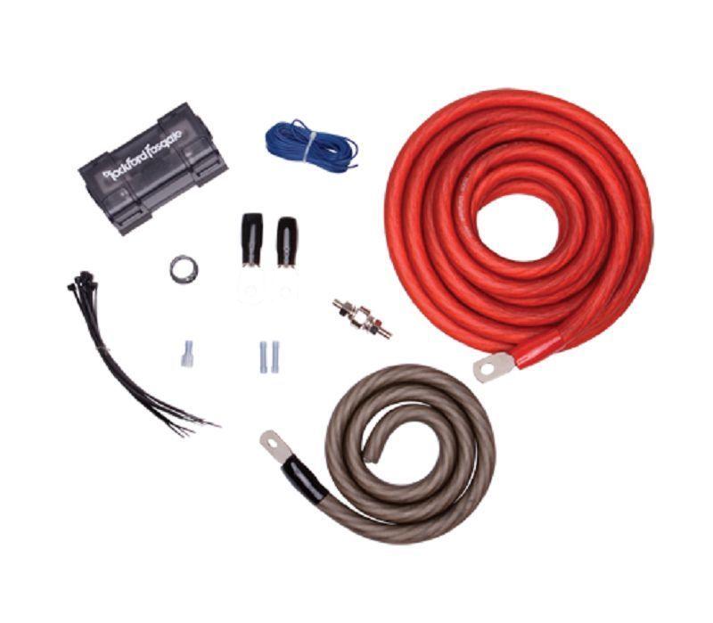 Rockford Fosgate Rfk1 True 0 1 Gauge Amplifier Wiring Kit Rockford Fosgate Power Installation Rockford