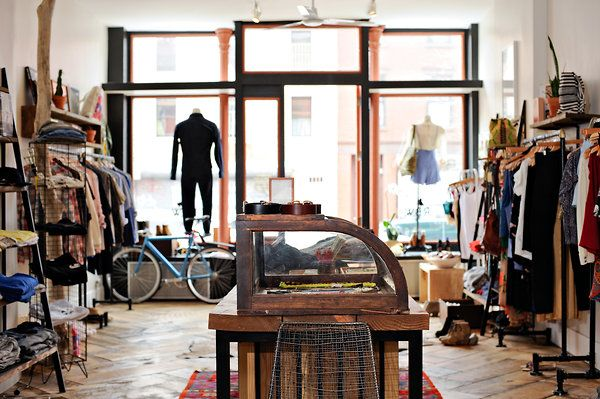 Raised by Wolves boutique in Greenpoint, Brooklyn; Casey ...