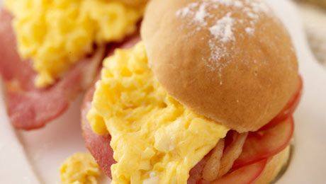 What's your ultimate Irish Breakfast? We can't resist a Bacon, Tomato and Scrambled Egg Bap!