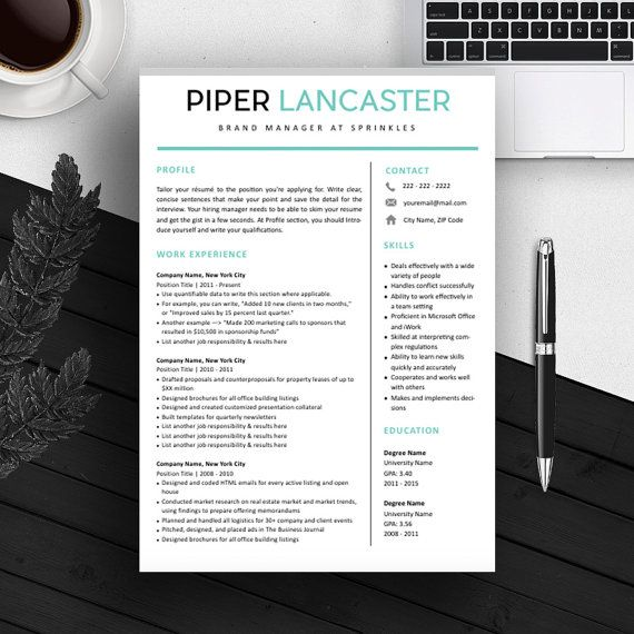 resume template cv template for ms word iwork instant