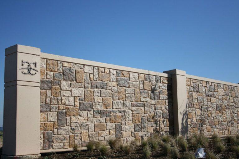 Ashlar Textured Stone Wall Panels Compound Wall Design Gate Wall Design Stone Wall Panels