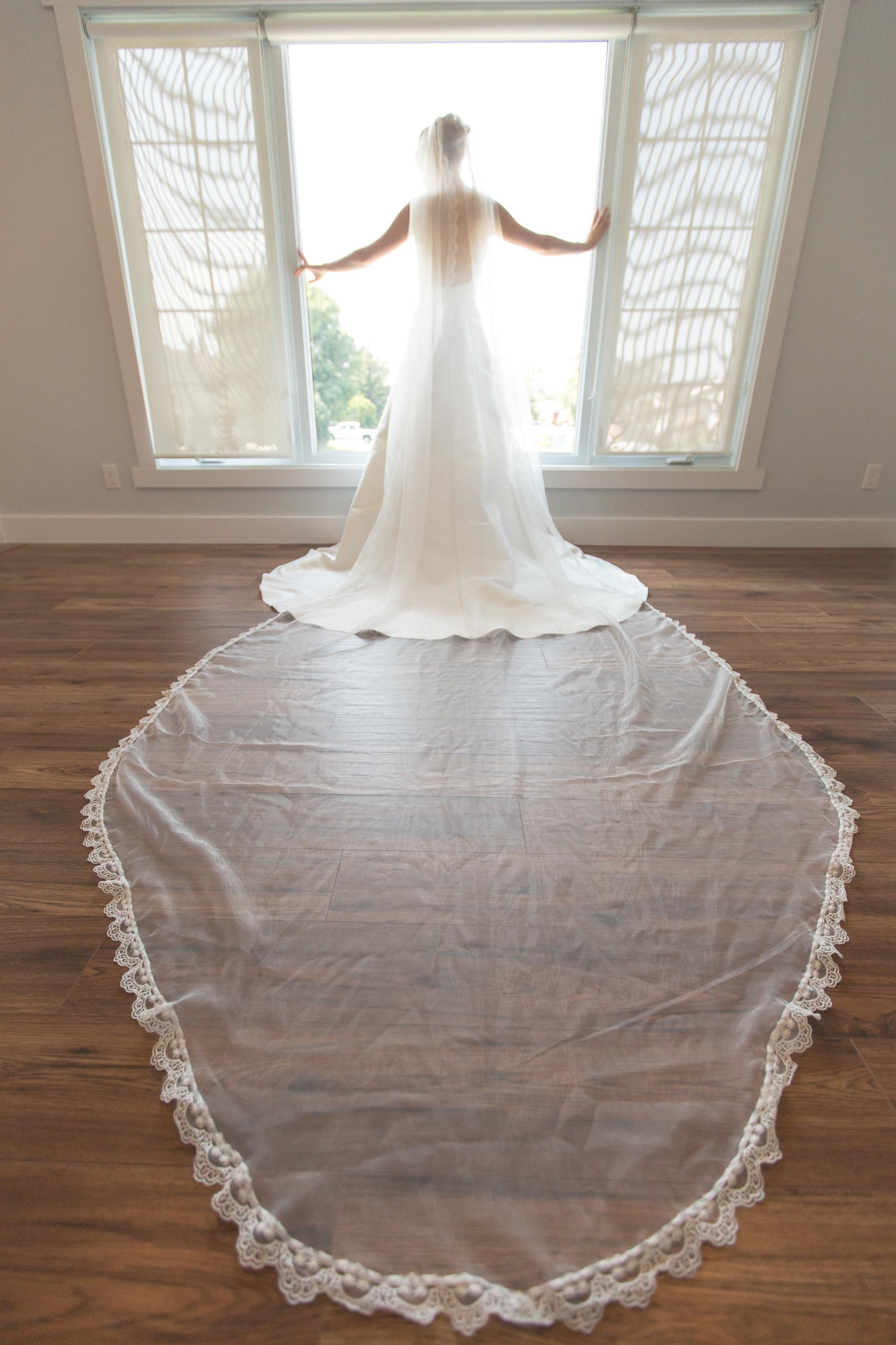 Real Wedding Cathedral Veil Long With Lace Maggie Sottero McCall Dress