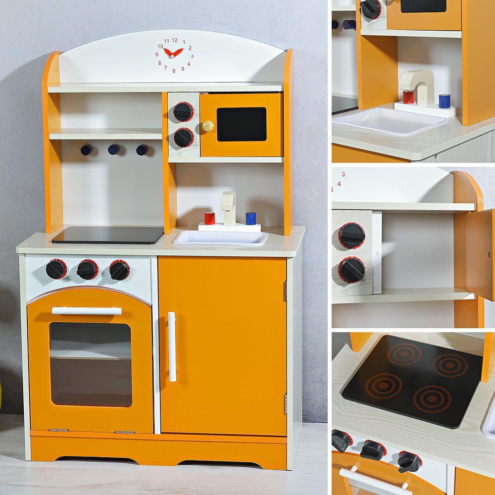 Kinderküche Holz Spielküche Kinder Spielzeug Zubehör Mädchen Küche ...