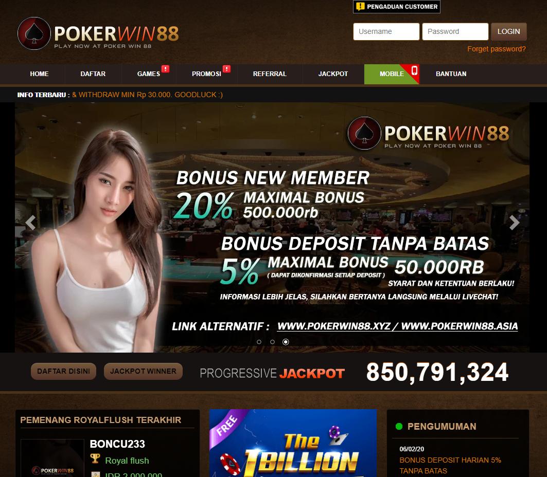 Pokerwin88 Situs Idn Poker Terbaik Poker Online Poker Online