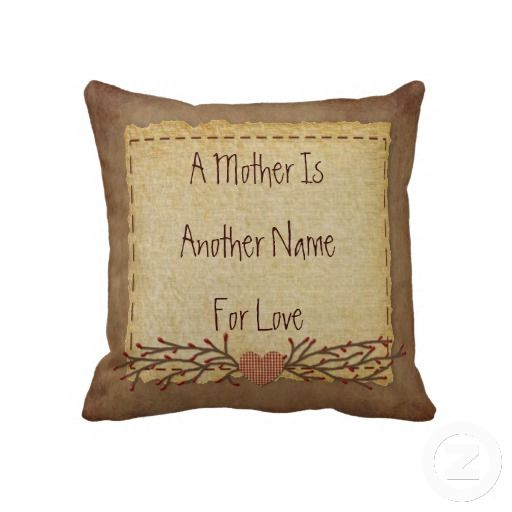 Primitive Country Mother's Day Pillow by MousefxArt.Com (Mouse Country Store) #MothersDay #Mom