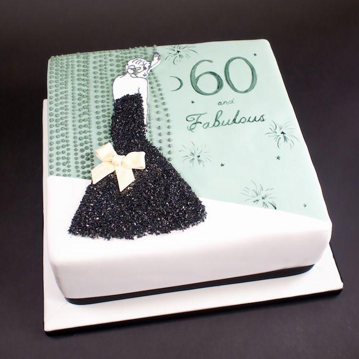 A Fabulous 60th Birthday Cake Crumbs Doilies
