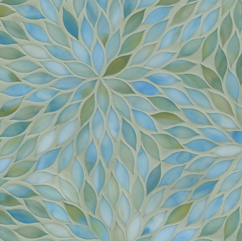 ANN SACKS Beau Monde Blossom Glass Mosaic In Aquamarine. I Would Love To  Incorporate This