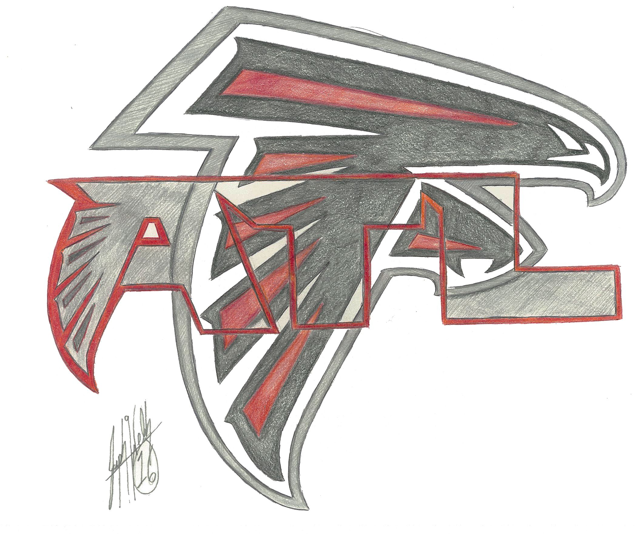 Atlanta Falcons Atlanta Falcons Drawing Falcon Drawing Atlanta Falcons