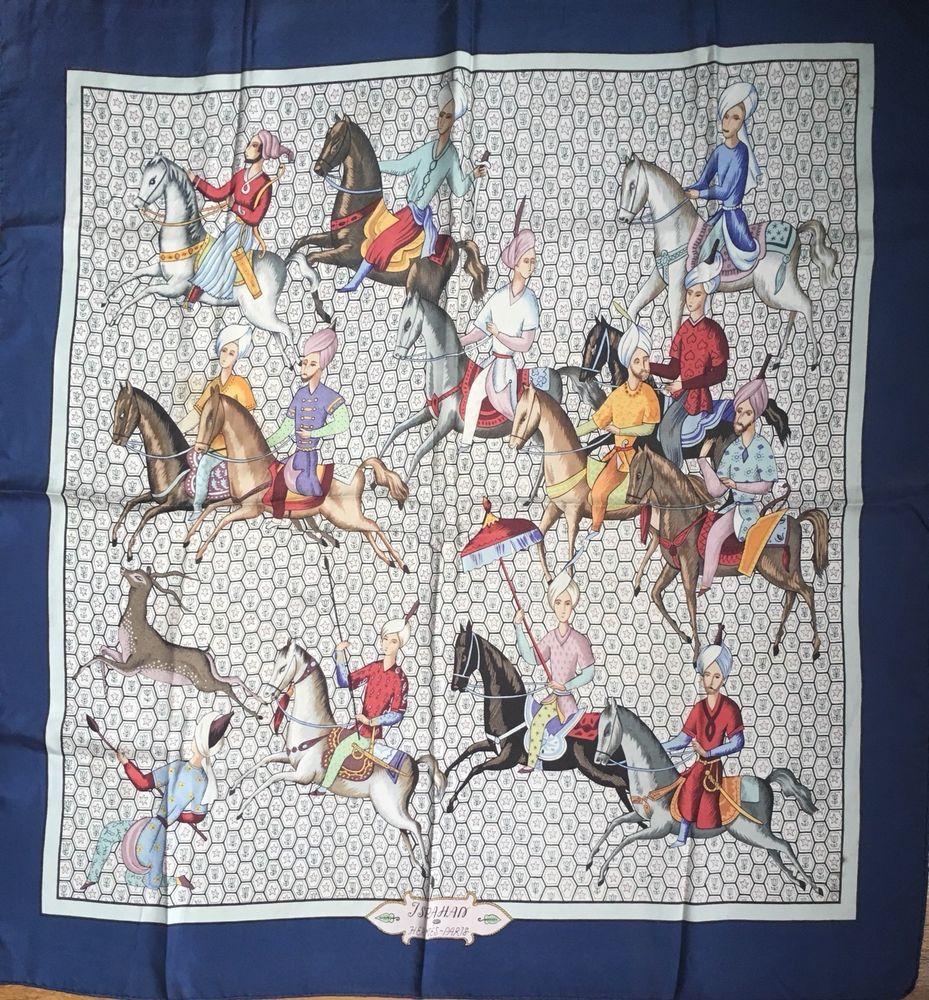 Foulard Hermès   Carré   Hermes Scarf   « ISPAHAN»   Rare Collector ... a510668115d