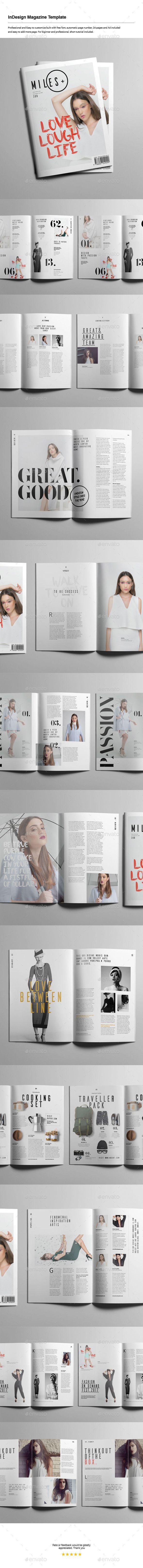InDesign Magazine Template | El periodico, Formato y Pienso