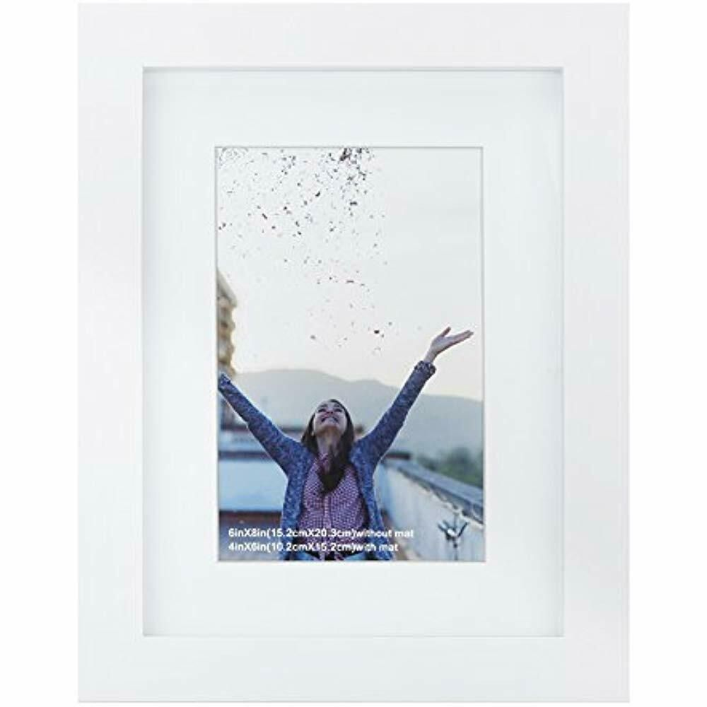 6x8 Inch Picture Frame Made Of Solid Wood And High Definition Glass Display Or Fashion Home Garden Homedcor Fr Frame Picture Frames White Picture Frames