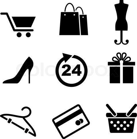vector shopping bag icon google search art graphic design