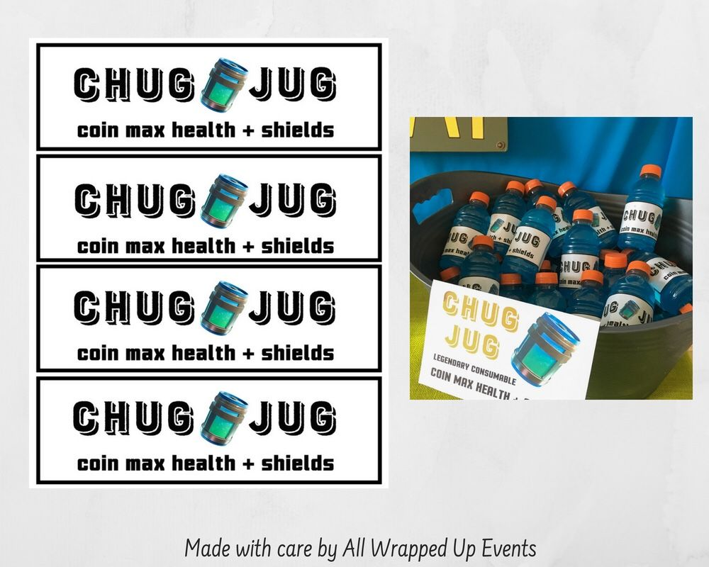 image relating to Fortnite Printable titled Cost-free Fortnite Printables Chug Jug V No cost V Dollars