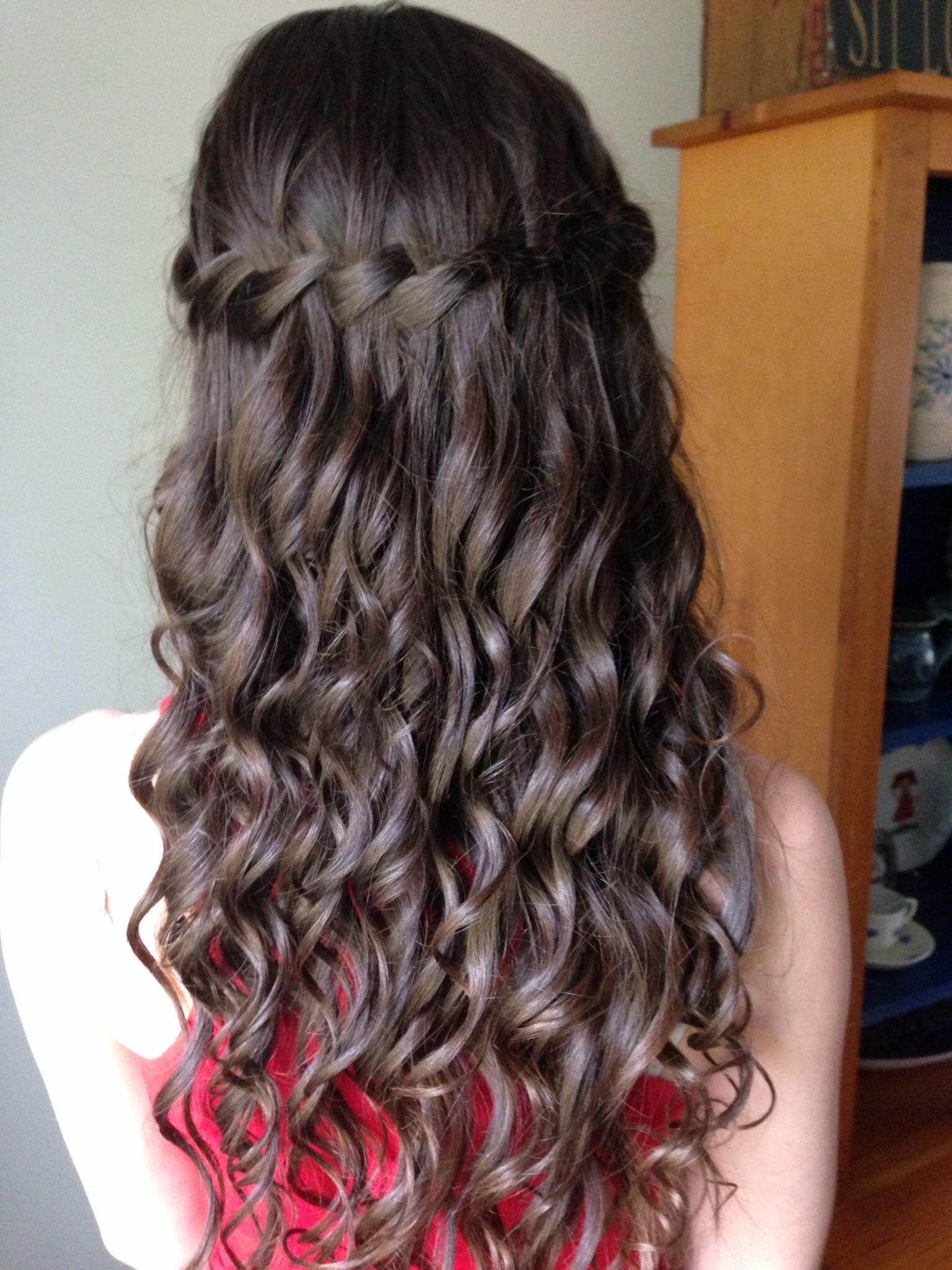 My waterfall prom hair hair pinterest prom hair