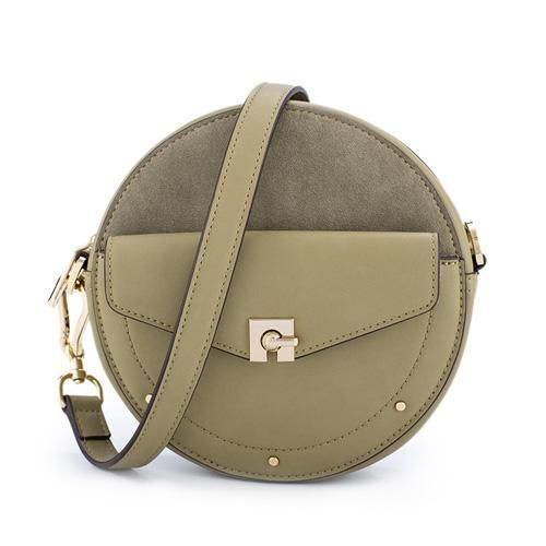 3fda6196235b Overview: Design  Leather Circle Bag Circle Purse Crossbody Bag Round Bag  Round Purse In