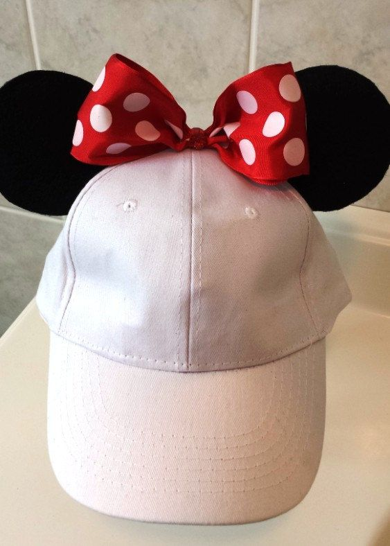 bf317a20099 Minnie Mouse inspired Baseball Cap with Red by GigisFlowerFancy ...