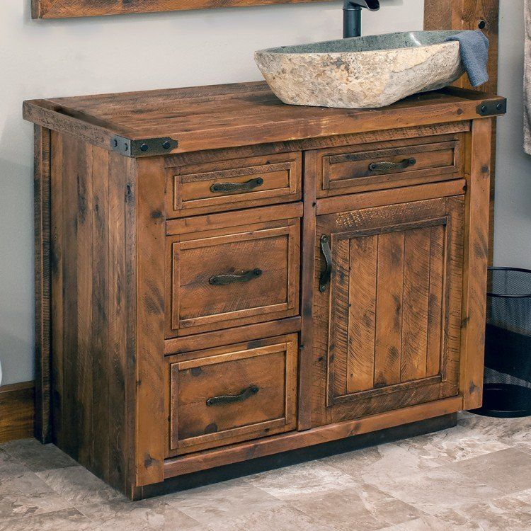 Timber Haven Rustic Barnwood Vanity 24 42 Rustic Bathrooms Rustic Bathroom Vanities Rustic Vanity