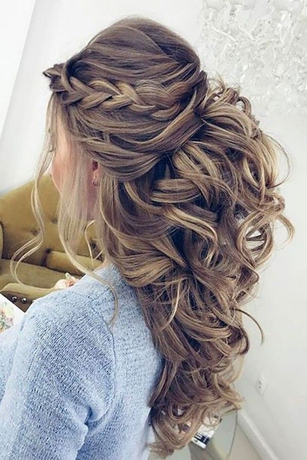 Bridesmaid Hairstyles Half Up Half Down Prepossessing Top 15 Wedding Hairstyles For 2017 Trends  Weddings Hair Style And