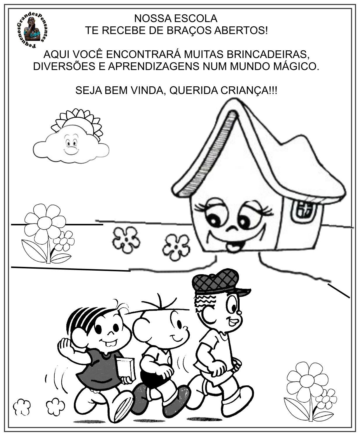 Atividade Boas Vindas A Escola De Educacao Infantil Atividades