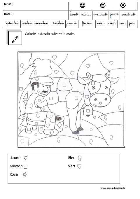Coloriage Magique Code Logique Maternelle Grande Section