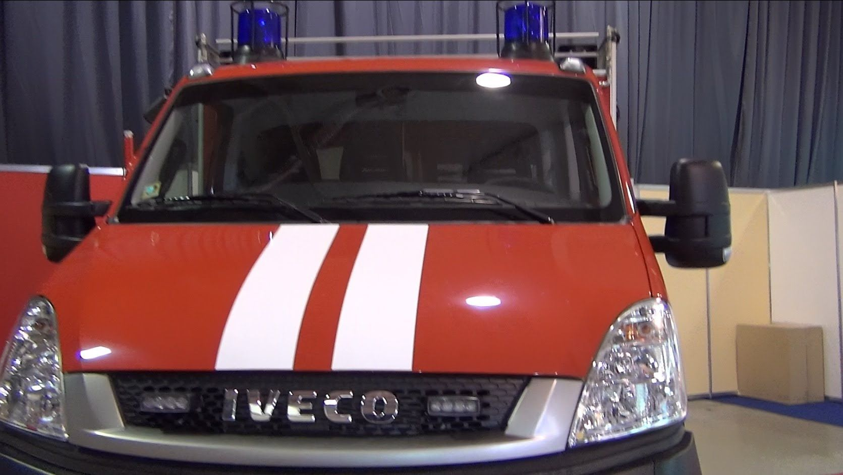 Iveco Daily 4x4 55S17W Fire Truck Exterior and Interior in 3D 4K UHD ...