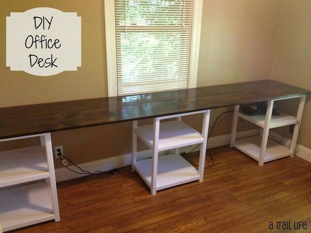 Pin by teresa benefield on craftroom organizing pinterest office diy could use short file cabinets for bases and wooded top along the wall solutioingenieria Gallery