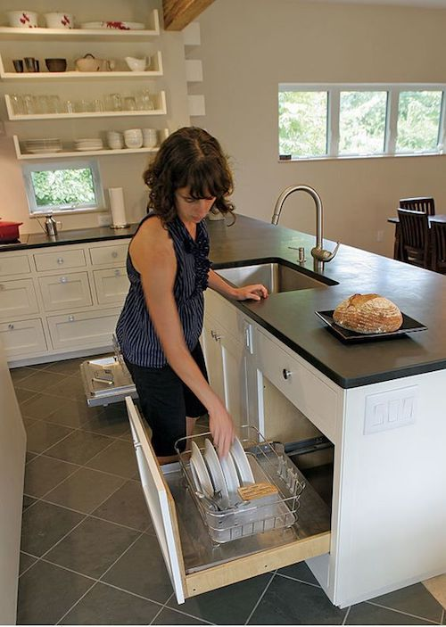 Kitchen Design Get The Dish Rack Off The Counter So Many Ideas For Hiding The Dish Drainer Dish Rack Drying Kitchen Design Kitchen Sink Drying Rack