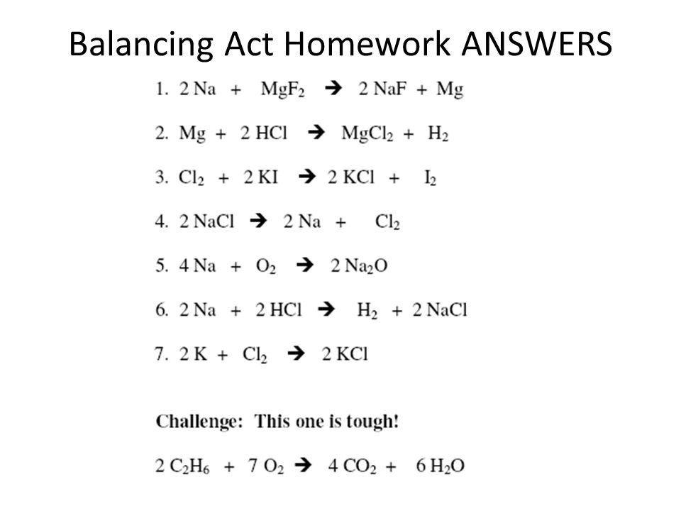 Balancing act worksheet answer key balancing act atoms are