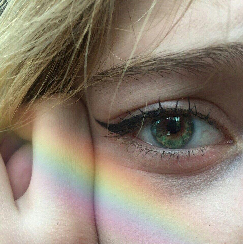 Character Inspiration Luna Lovegood Board Eye Sadness Rainbow