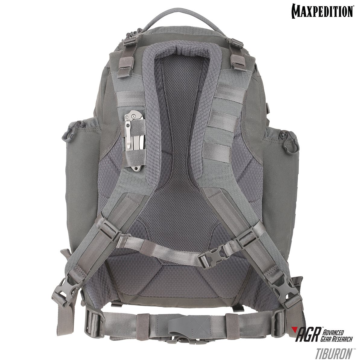 cb9d3a4aa2 The Tiburon Backpack features yoke-style, padded backpack straps that form  a U-shape in the middle for improved ergonomics.