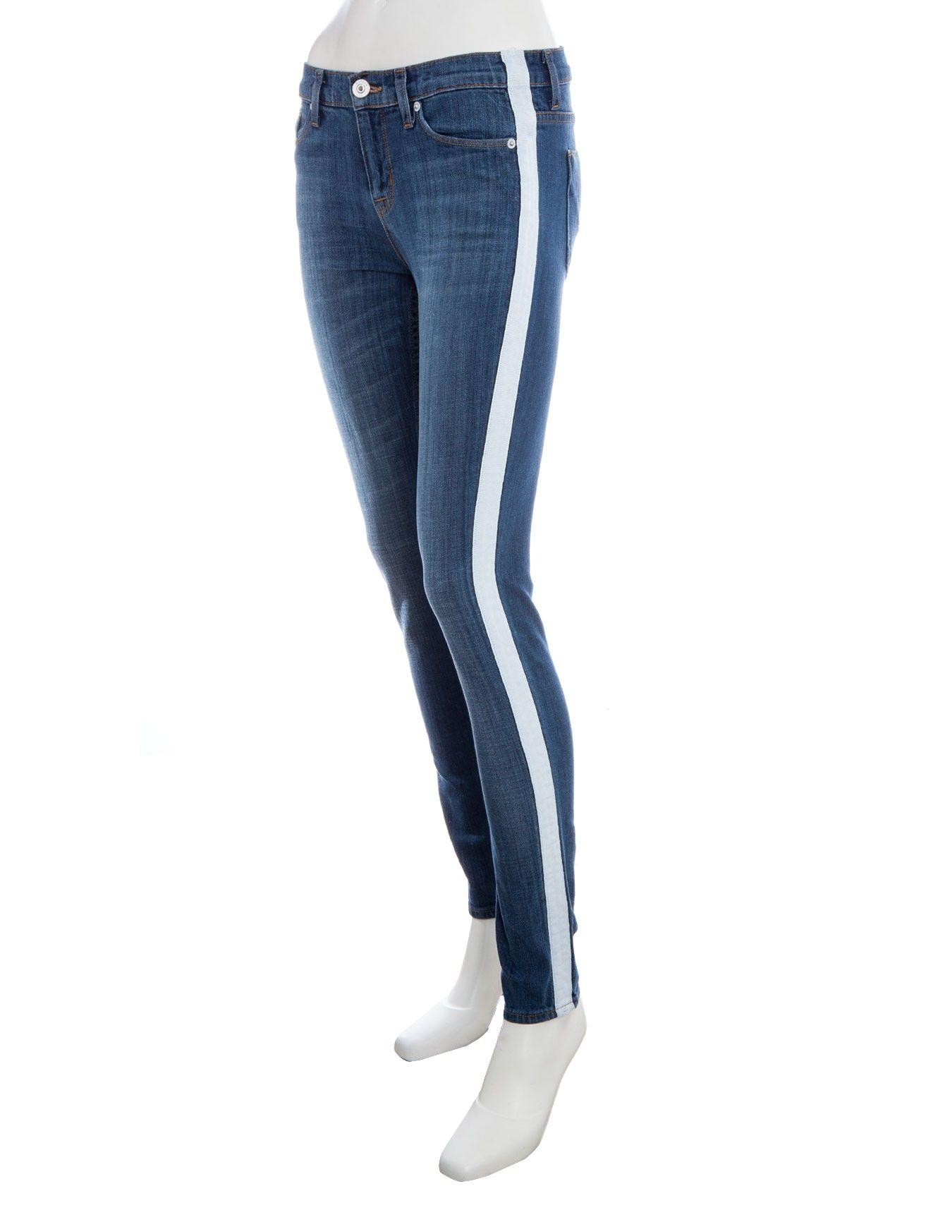 9fab00d79f9 Nico Tuxedo Stripe Skinny Jeans by Hudson Jeans | Denim - WOMEN | Scoop NYC