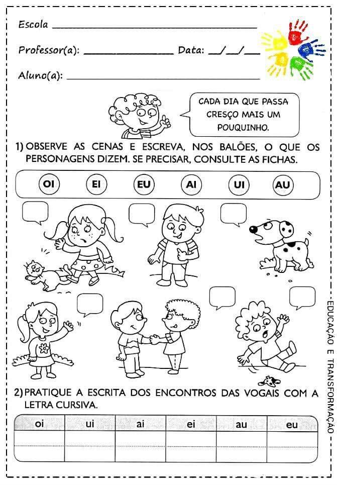 Imagem De Atividades Alfabetizacao Por Cheila Das Neves
