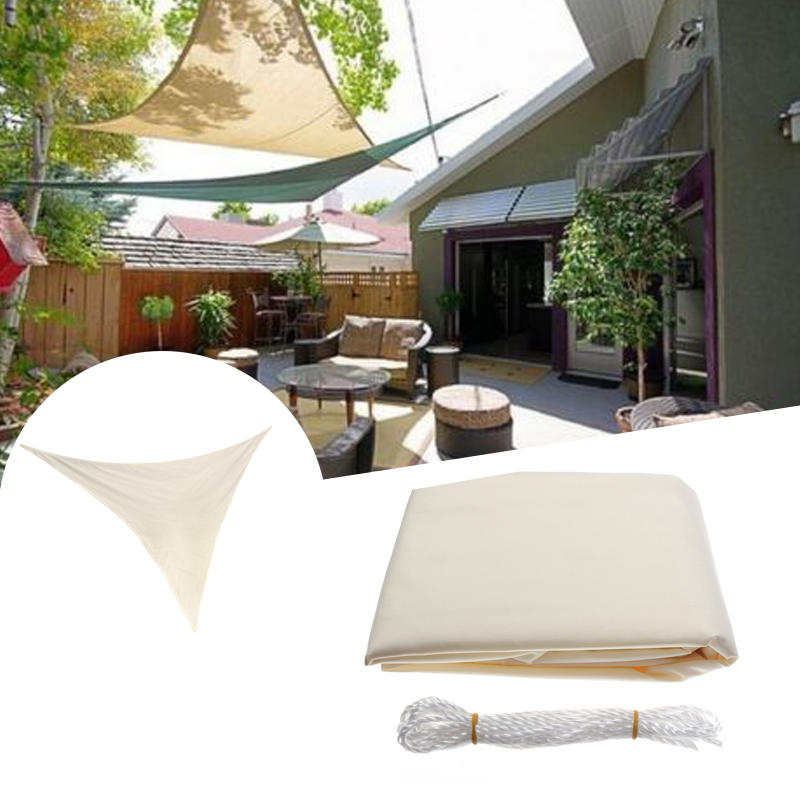 Us 34 78 3 5m 11ft Triangle Sun Shade Sail Uv Water Resistant Canopy Patio Garden Tent Awning Camping From Sports Outdoor On Banggood Com Sun Sail Shade Shade Sail Sail Canopies