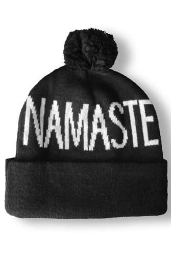 a63629376b9 The Spiritual Gangster Pom Namaste Beanie is the perfect accessory for your  SG tanks and pullovers! Spiritual Gangster Beanie Namaste