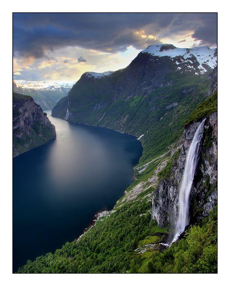 Geirangerfjorden, Geiranger (Møre og Romsdal). The ...
