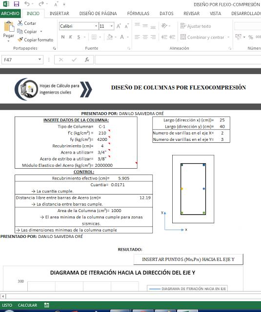 xls ] HOJA DE CALCULO EXCEL PARA DISEÑO DE REFUERZO DE ACERO EN ...