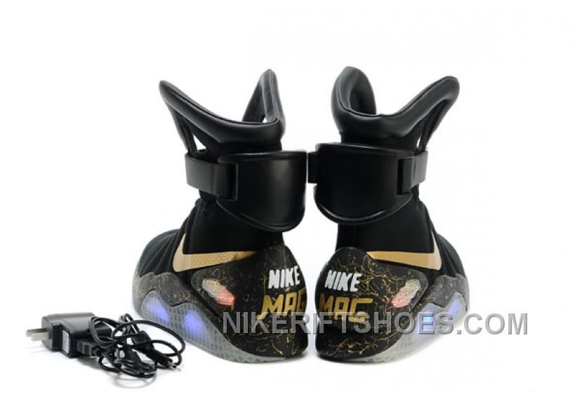 Nike Air Mag Back To The Future Limited Edition Shoes Black Gold