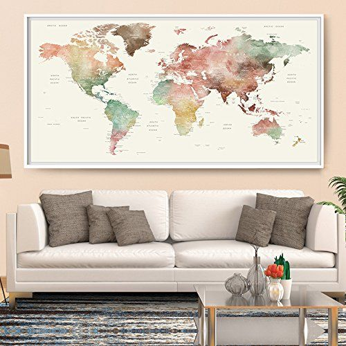 World map wall art world map watercolor world map wall https world map wall art world map watercolor world map wall gumiabroncs Image collections